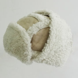 Sheepskin Winter Russian Trapper Hat Double Face Plush Style Adult Size