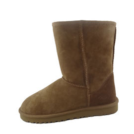 Comfortable 100% Australia Sheepskin Winter Boots Good Air Permeability